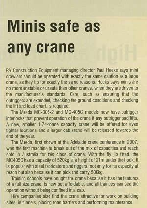 mini cranes - Pacecranes Editorials