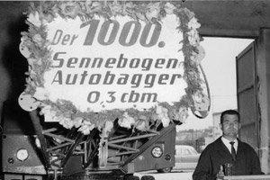 Der 1000. Autobagger verlaesst das Werk -