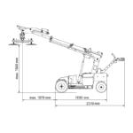 GW425 materials handler dimensions